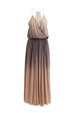 Rabens Saloner Fade String Wrap Dress - Rose
