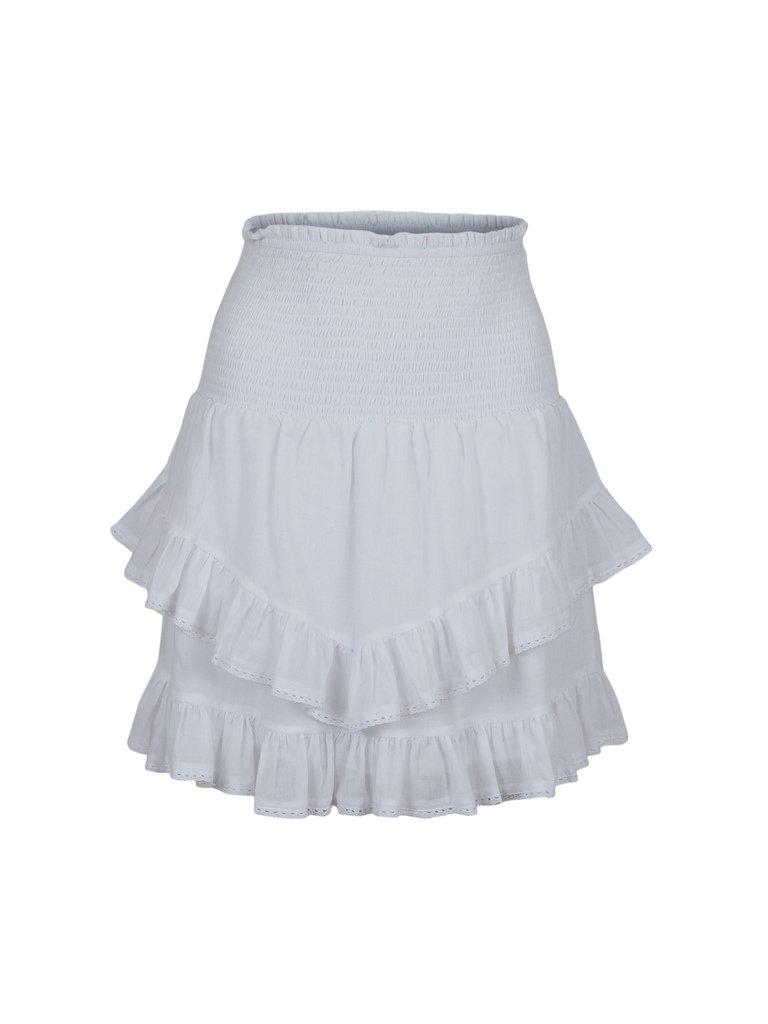 Neo Noir  Line Solid Skirt - 120 White