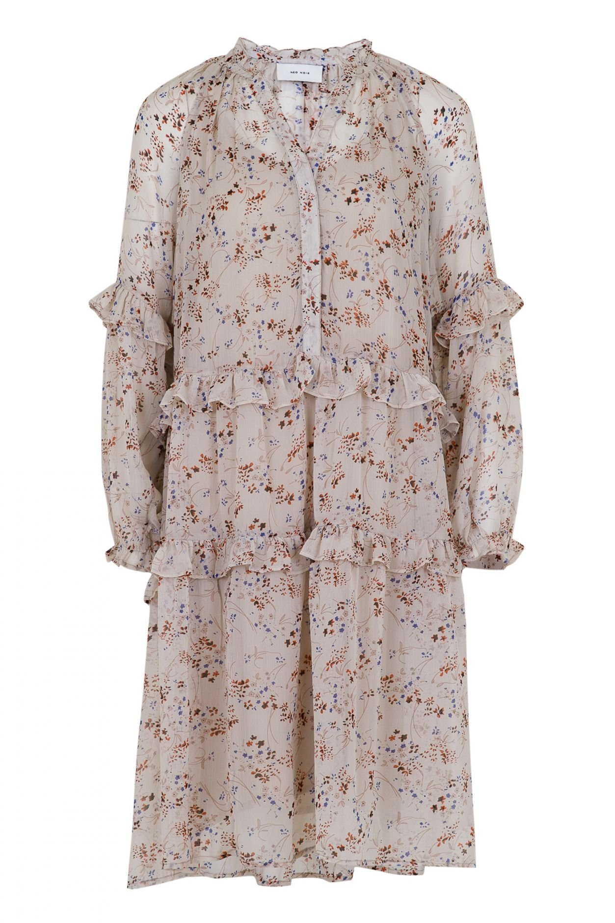 Neo Noir Hampton Airy Flower Dress - White