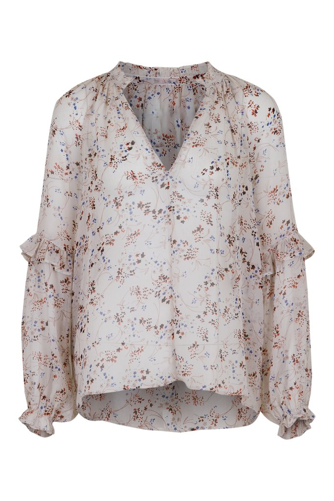 Neo Noir  Willow Airy Flower Blouse - 121 Off White