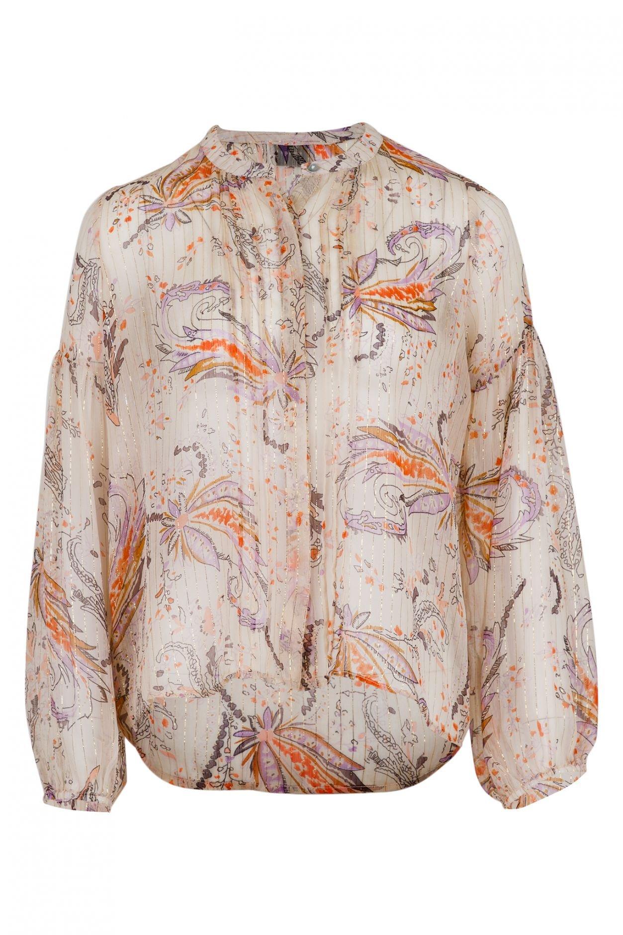 Neo Noir Fatima Exotic Flower Shirt - Creme