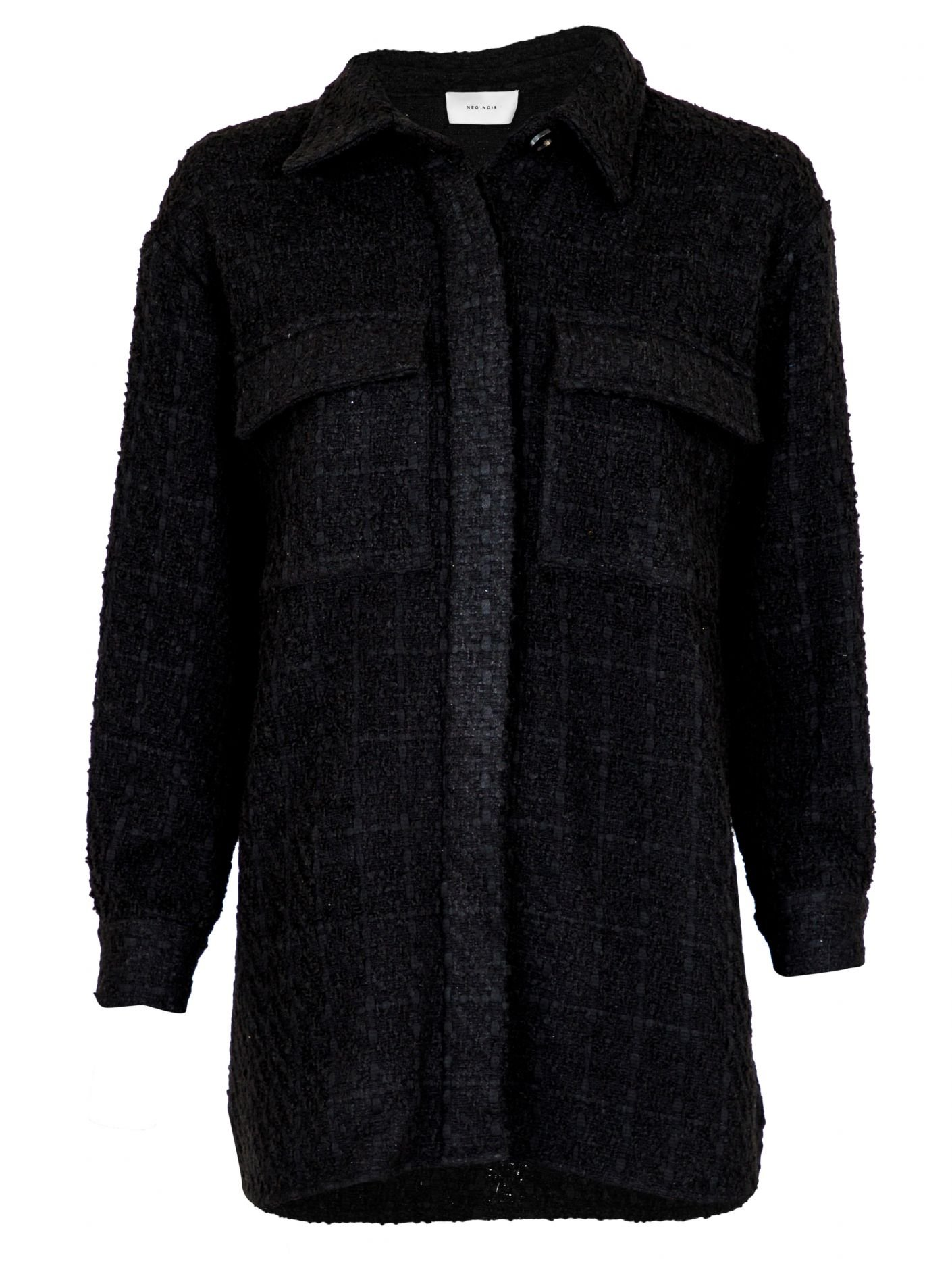 Neo Noir Lin Boucle jacket Black