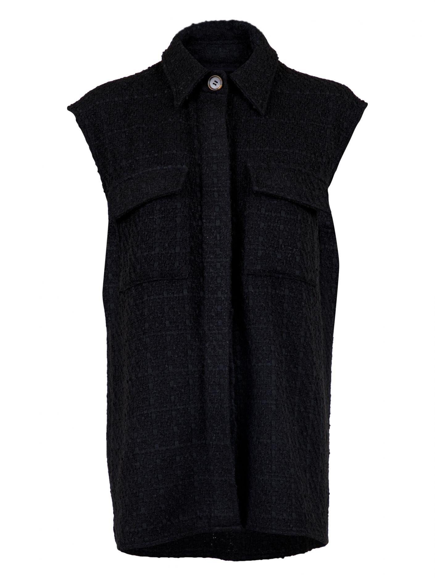 Neo Noir Cable Boucle Waistcoat