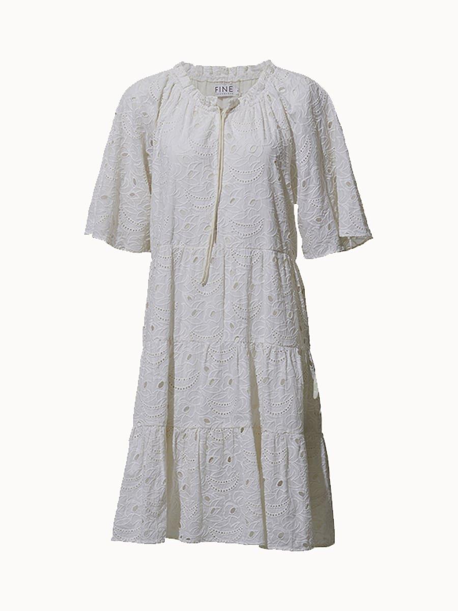 Fine Copenhagen Bella Wide Dress  - Ecru 002