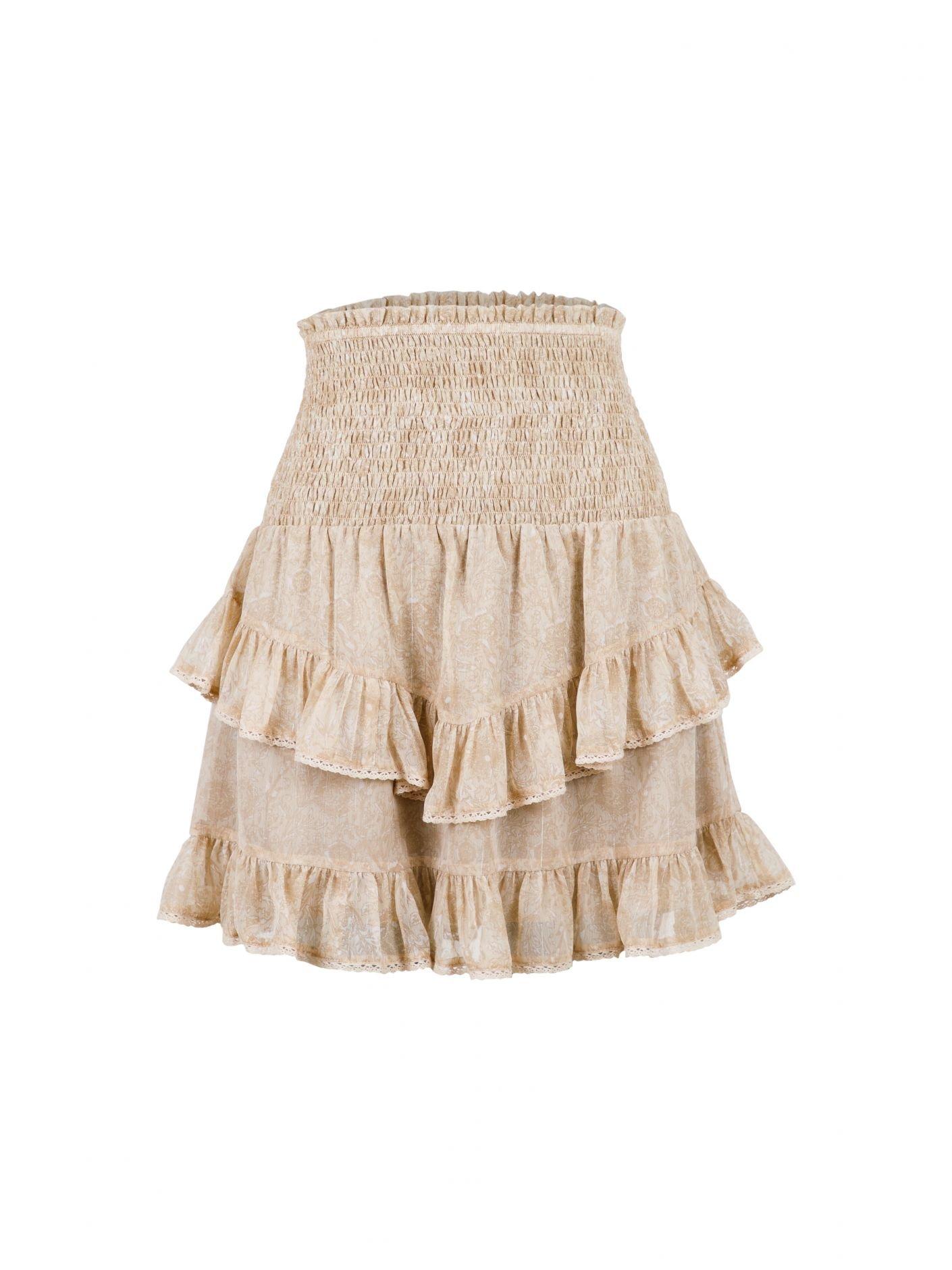 Neo Noir Line Floral Wallpaper  Skirt