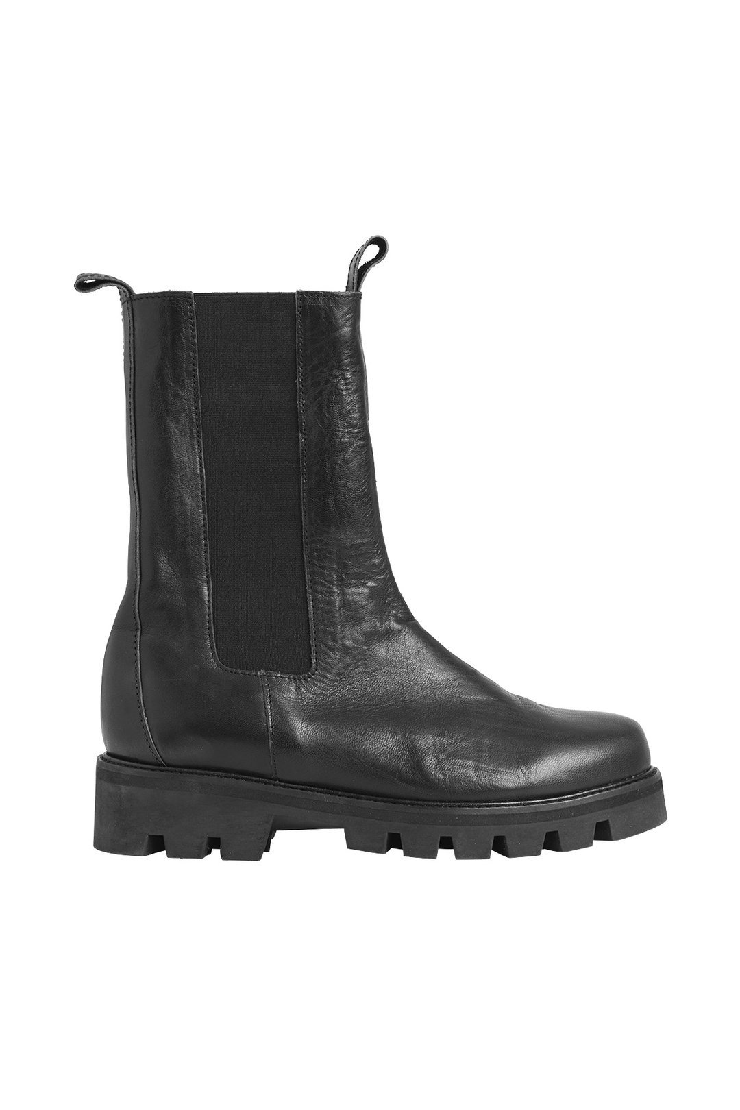 Rabens Saloner Faith Leather Chealsea Boot - black