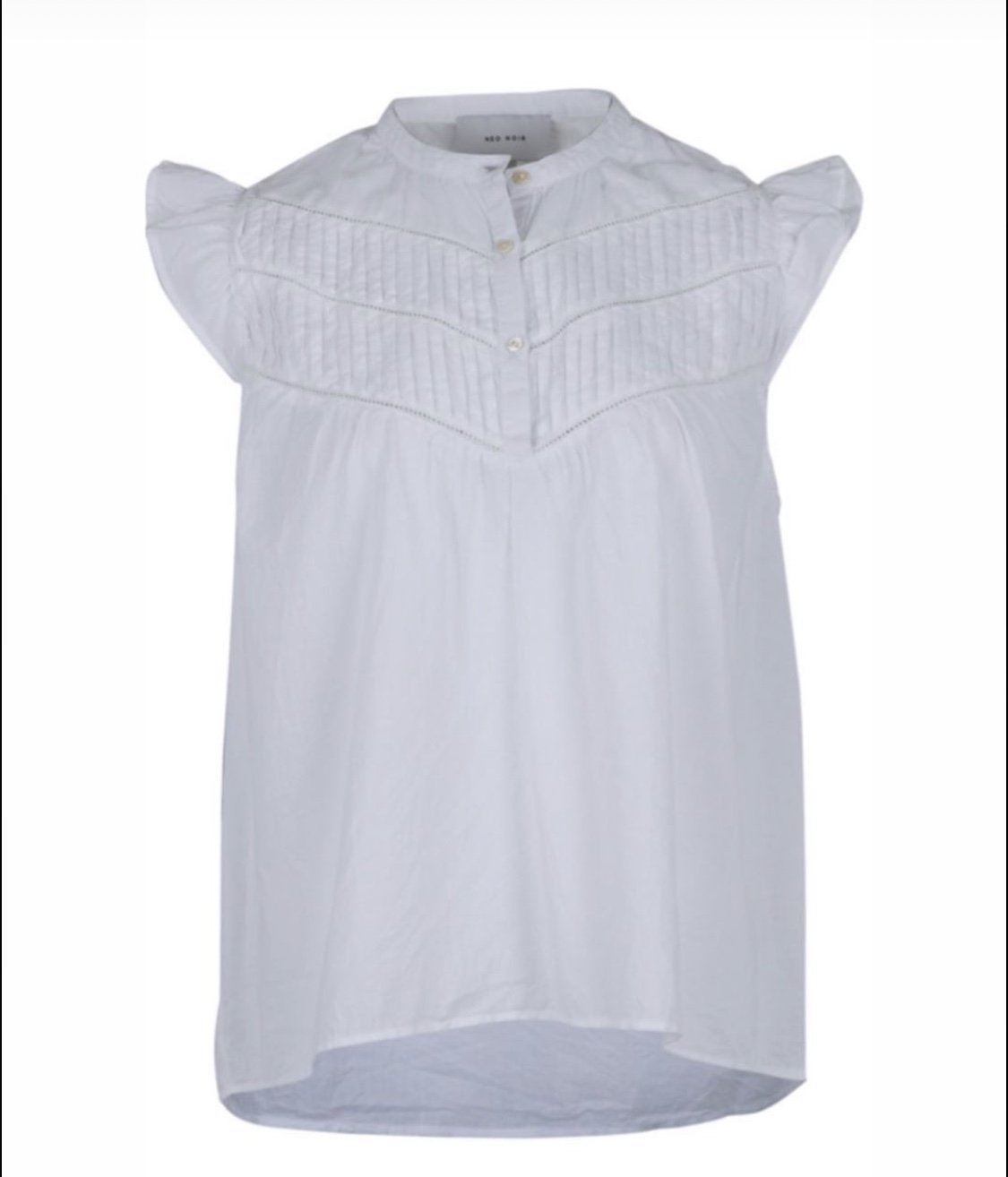 Neo Noir Faith Voile Top White