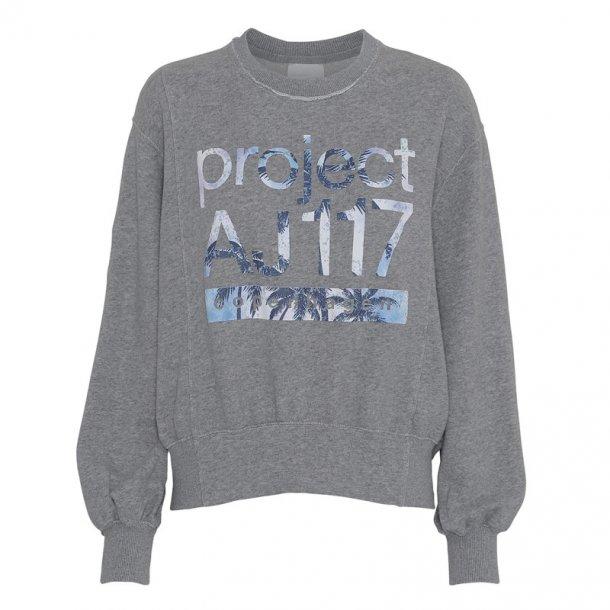 AJ 117 Project Andrea Print Blouse - Grey