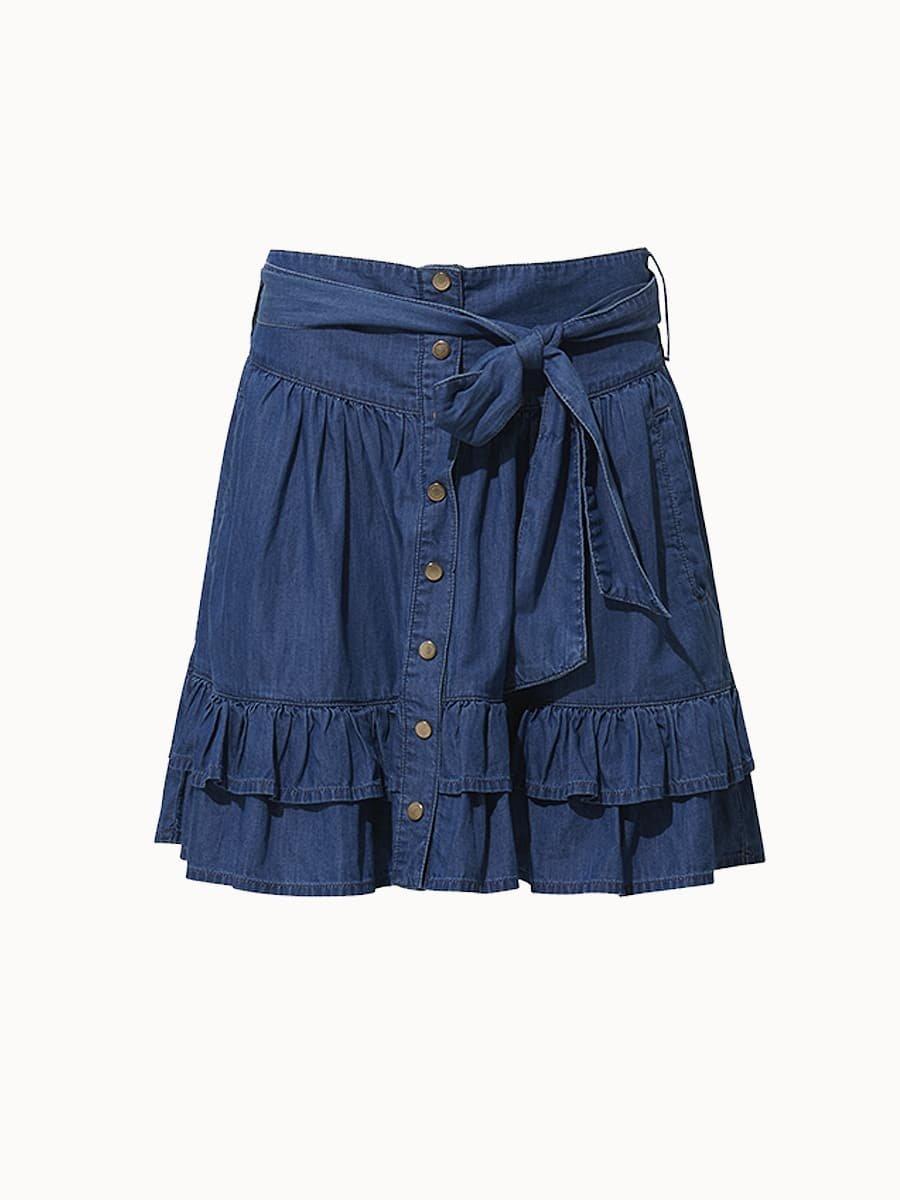 Fine Copenhagen Chantal Short Skirt - Chambray Blue
