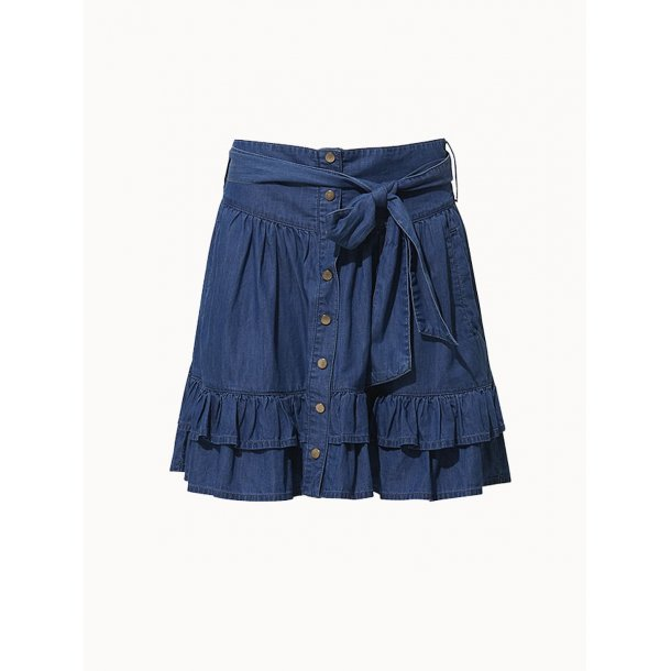 Fine Copenhagen Chantal Short Skirt - Chambray Blue