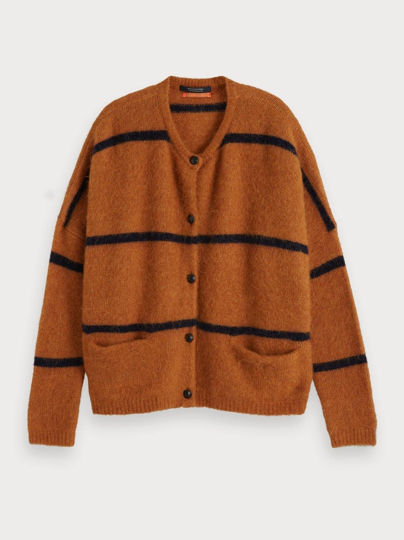 Maison Scotch Chunky Soft Knit Cardigan 153830 Camel
