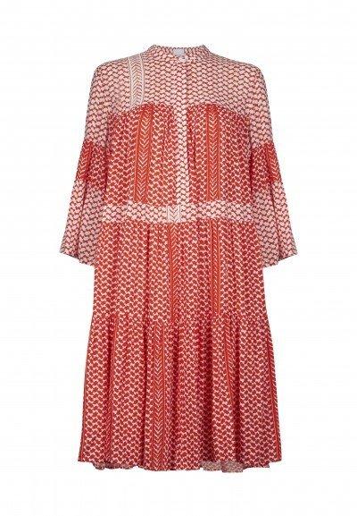 Lala Berlin Deenah Dress - Patchwork kufiya Red/White