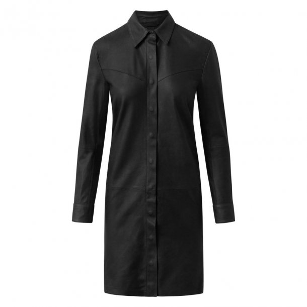 Depeche Leather Long Shirt - Black