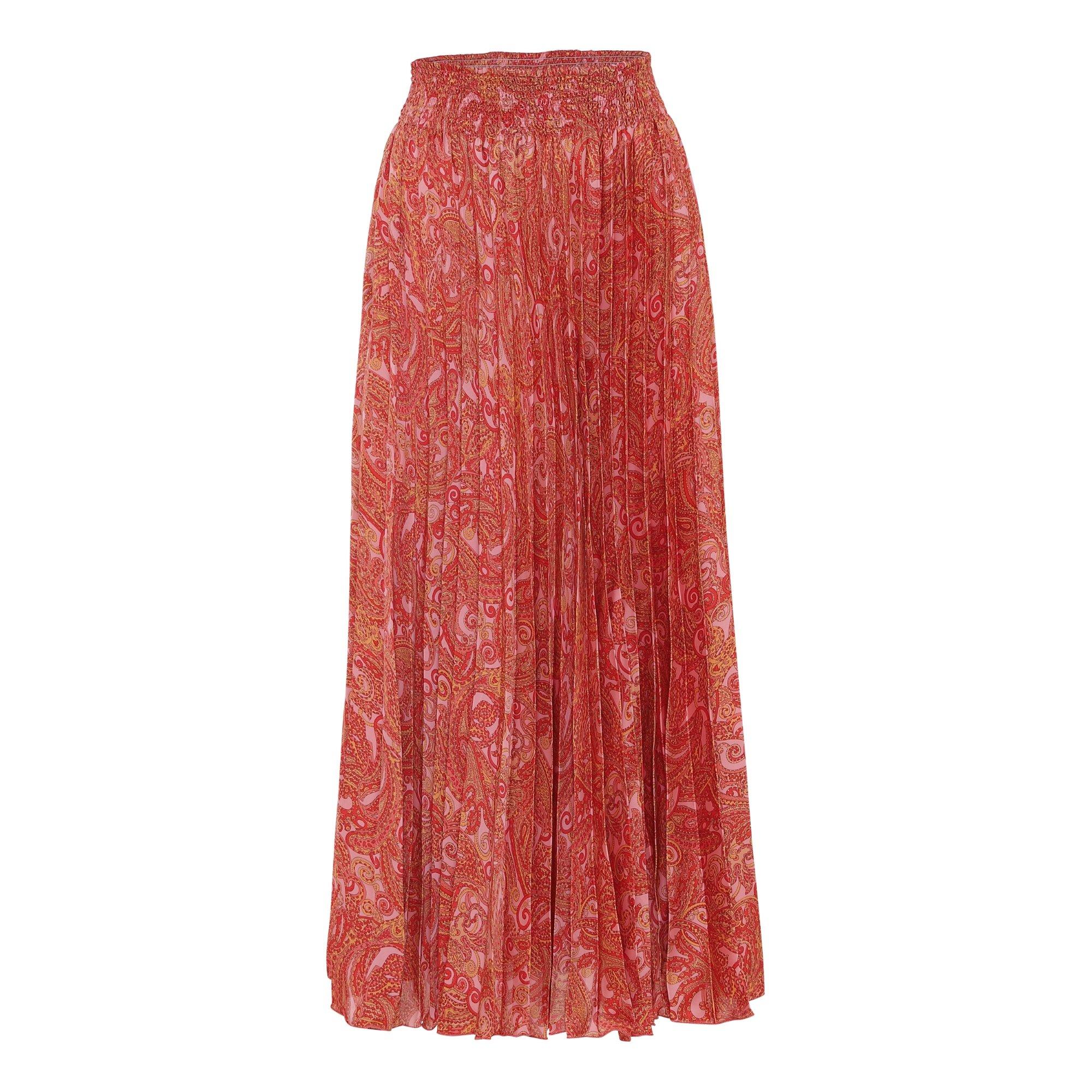 Karmamia Pink Paisley Plisse Skirt