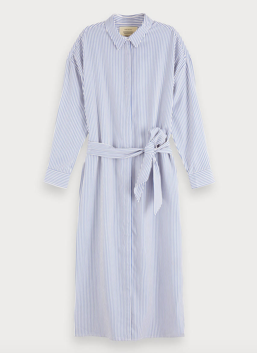 Maison Scotch Striped Shirt Dress 155950