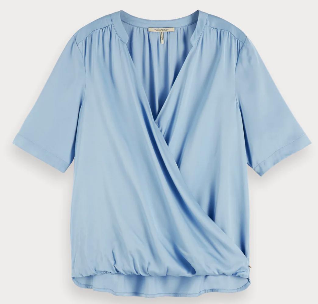 Maison Scotch Wrap-over top 155937 - Blue