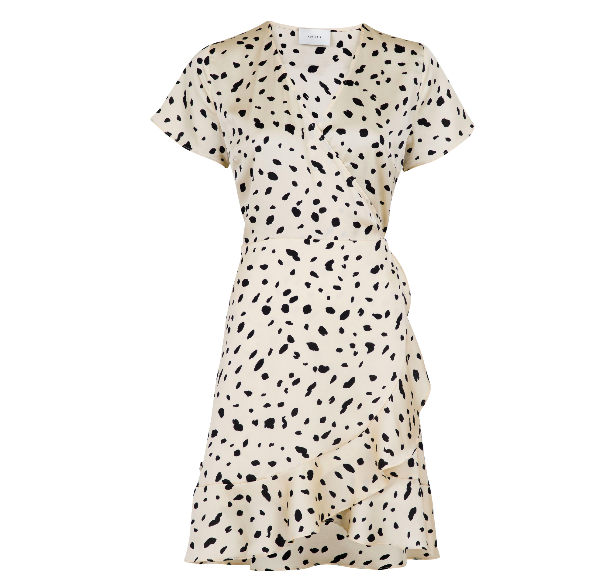 Neo Noir Malta Abstract Dot Dress - Creme 122