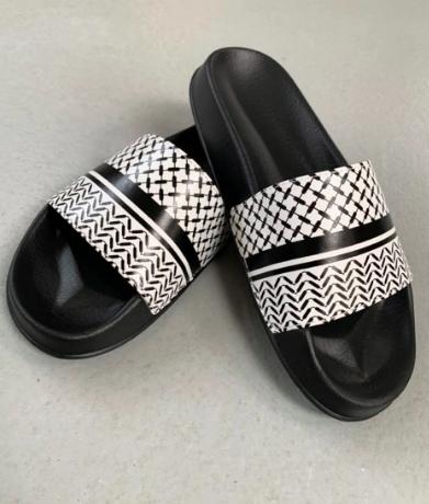 Lala Berlin Ariella Slippers - Classic Kufiya Stripe