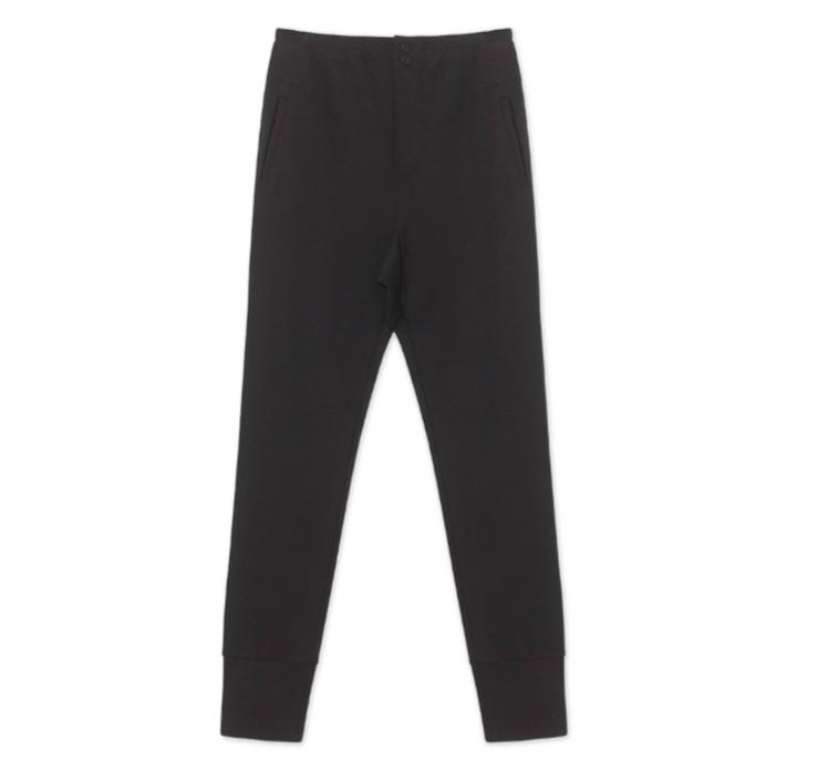 Graumann Risse pants Japanese jersey - Black