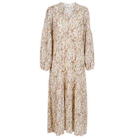 Neo Noir Miles Flower Bud Dress - Off white