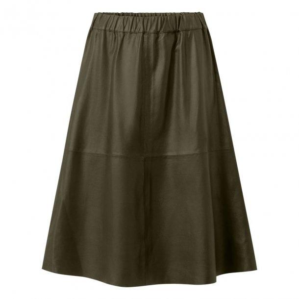 Depeche Leather Skirt 50160 Green