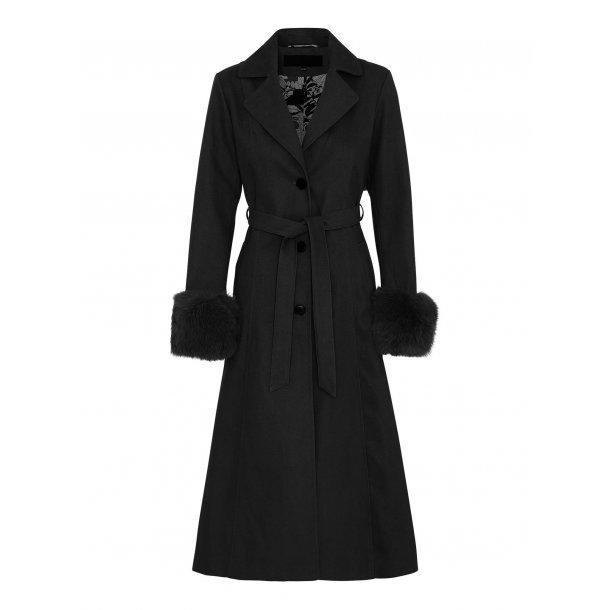 Meotine Violet Coat Black