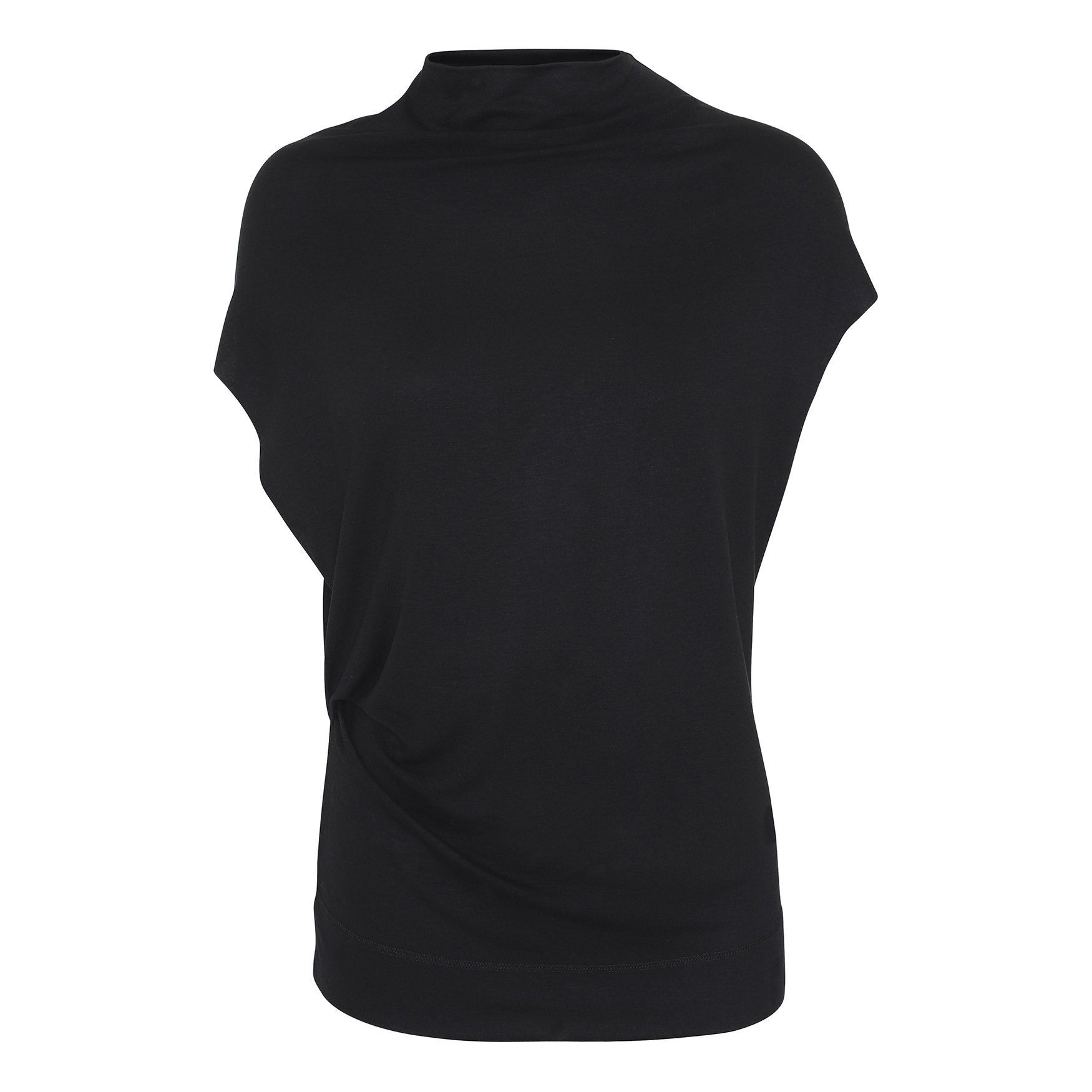 Rabens Saloner  Draped Jersey Tee - Black