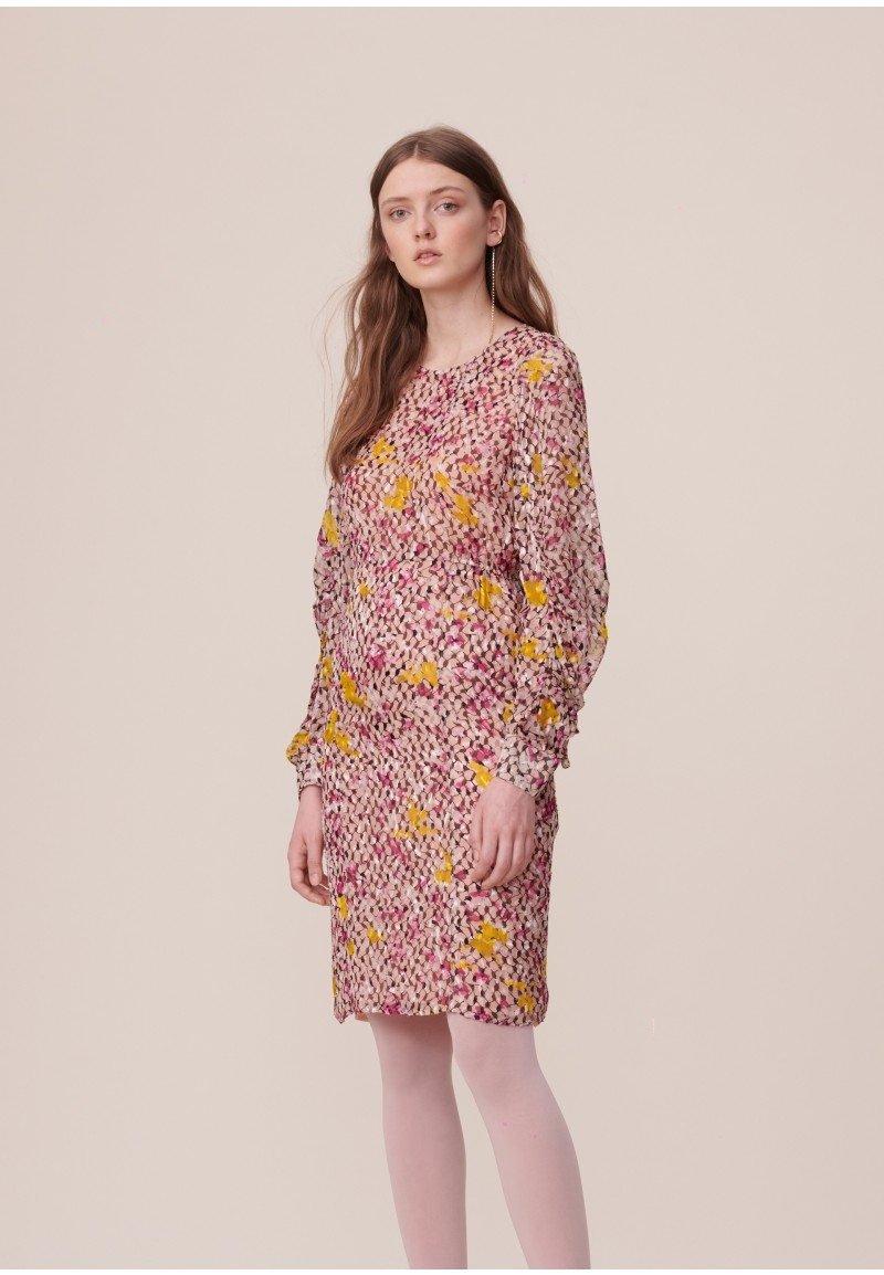 Lala Berlin Doucie Dress - Kufiya Cosmos Pink