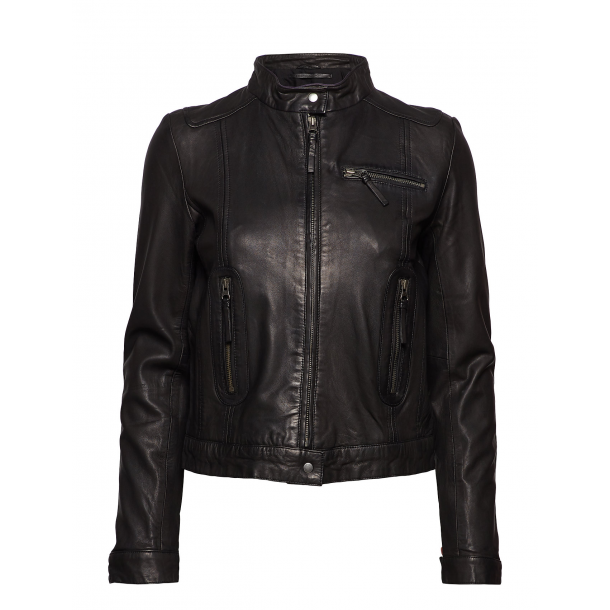 MDK Karla Leather Jacket Black