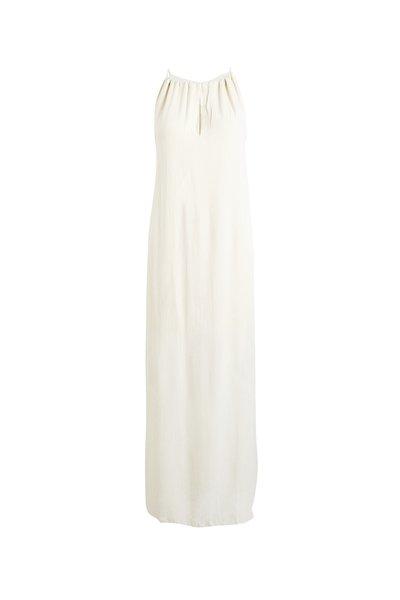 Rabens Saloner Crinkle Dress - Dirty ivory