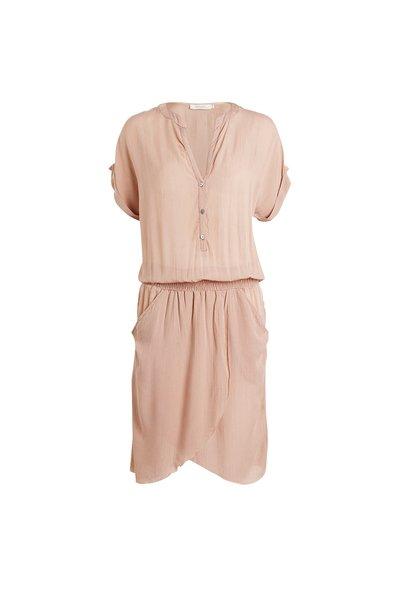 Rabens Saloner Crinkle Wrap Over Short Dress - Blush