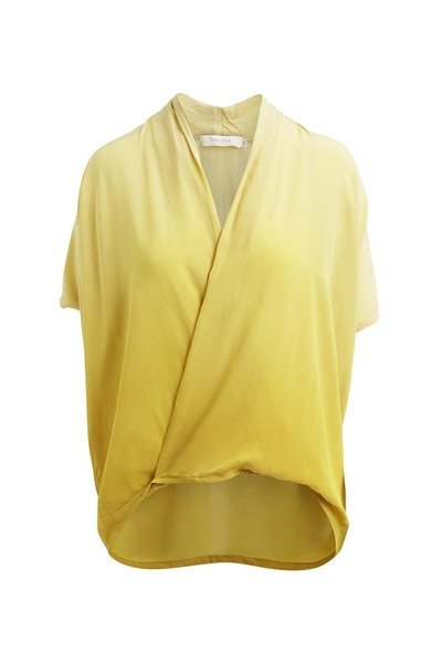 Rabens Saloner Fade Wrap Front Top - Yellow