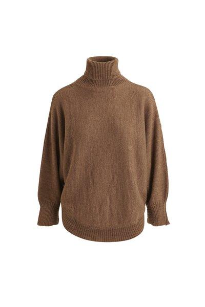 Rabens Saloner Gisele Split knit - camel melange
