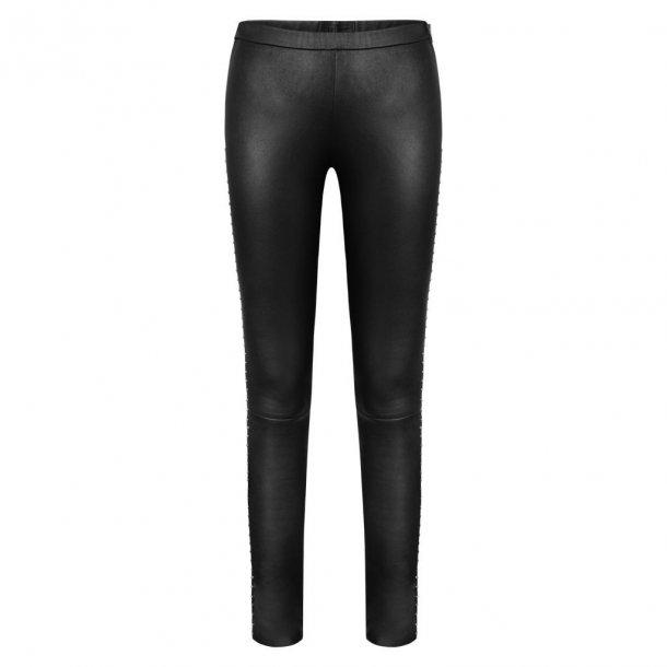 Depeche Leather Leggings W/Studs.